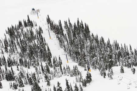 leah: Ski lift Stock Photo