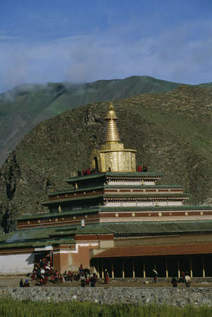 Labrang Monastery in Xiahe, China Stock Photo - 8243707