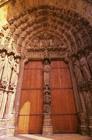 our: The doorway of Cathedral of Our Lady of Chartres, France