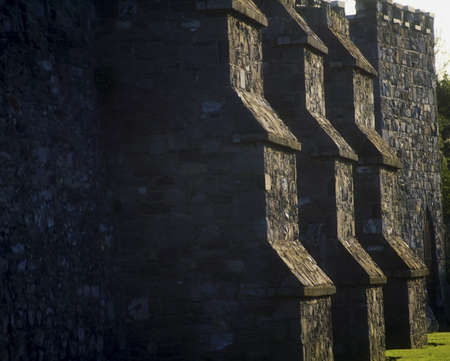 buttresses: Dublin, Buttresses on preserved section of City Wall, Cook Street, Ireland