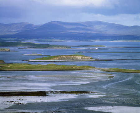 Co Mayo, Crowh Patrick, 아일랜드의 Clew Bay 스톡 콘텐츠