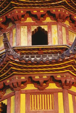Detail of a Pagoda in Suzhou, China photo