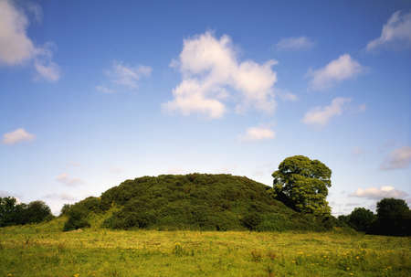 county meath: Co Meath, Dowth Passage Tomb, Ireland Stock Photo