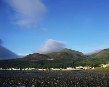 Newcastle and Mourne Mountains, Co Down, Ireland 스톡 콘텐츠
