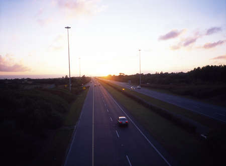 De snelweg M50 in de buurt van Ballymun, Dublin, Ierland Stockfoto