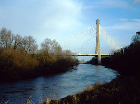 Motorway Bridge over River Boyne, Near Drogheda, Co Meath, Ireland Stock Photo - 8242317