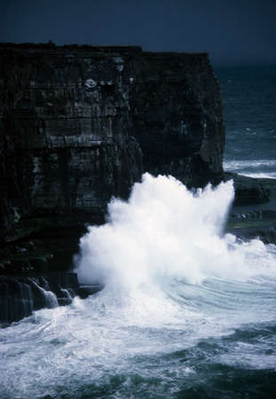 seascapes: Aran Islands, Dun Aengus, Inishmore, Ireland Stock Photo