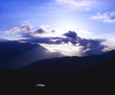 co  kerry: Co Kerry, Macgillycuddys Reeks, Molls Gap, Killarney, Ireland Stock Photo