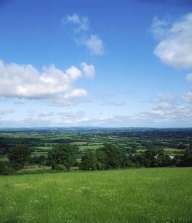 Pastoral Farmscape, Borris, Co Carlow, Ireland Stock Photo