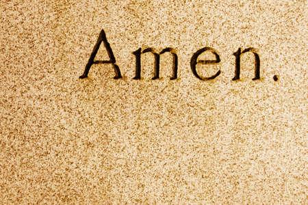 Amen engraved Standard-Bild