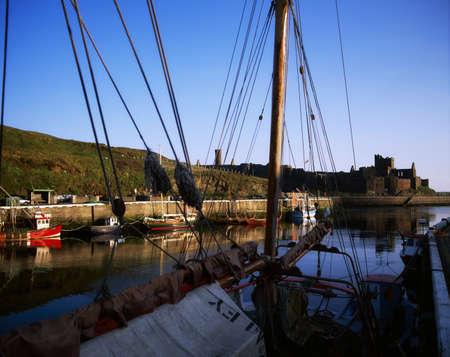 peels: Peel Harbour and Castle, Isle of Man, UK