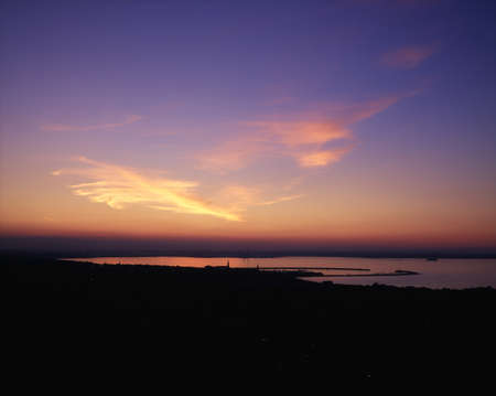 co  meath: Sunset, Dun Laoghaire, Co Dublin, Ireland Stock Photo