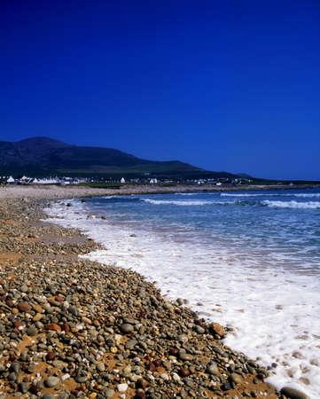 achill: Achill Island, beach at Dooagh, Croaghaun Mountain, Ireland Stock Photo