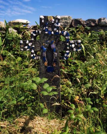 harland: Achill Island, Co Mayo, homemade gravestone, Cloghmore, Ireland