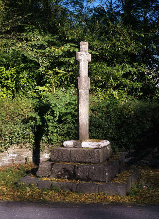 county meath: Remnants of a High Cross, Dunsany, Co Meath, Ireland