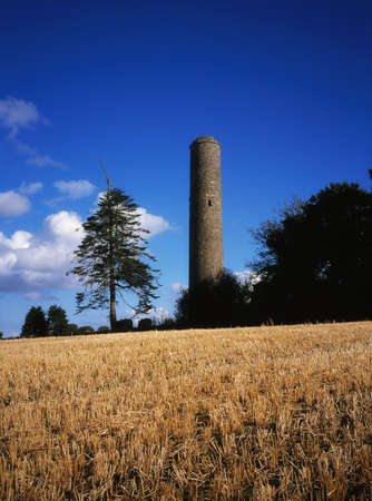 Donaghmore Round Tower, Navan, Co Meath, Ireland Stock Photo - 8243456