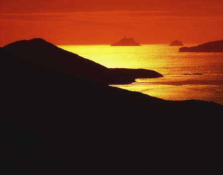 Co Kerry, Skellig Rocks from Waterville, Ireland Stock Photo - 8241655
