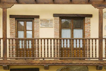 verandas: Balcony in Rioseco, Northern Spain Stock Photo