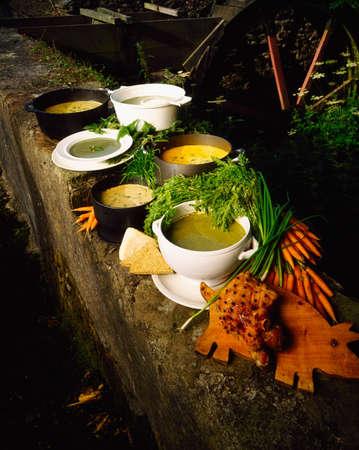 Various traditional Irish soups Stock Photo - 8243344