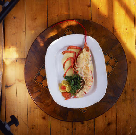 the irish image collection: The Dublin Lawyer, a traditional Irish lobster dish