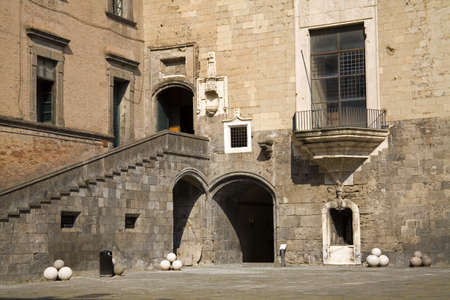 Inner Courtyard, Nuovo Castle, City of Naples, Italy Stock Photo - 8243620