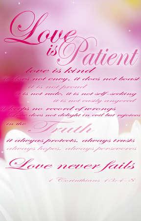 valores morales: El amor es paciente