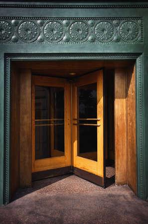 entryway: A revolving door