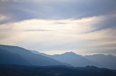 Mountain scene, Fairmont, BC, Canada Stock Photo