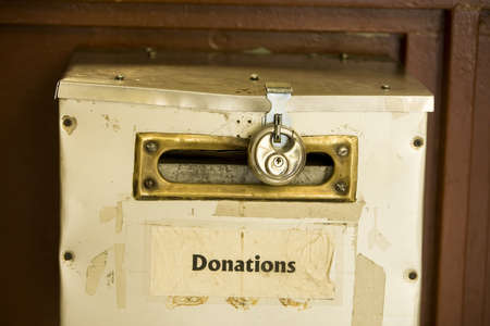 contributions: Donation box with lock