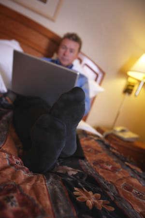 A businessman using a laptop Stock Photo - 8241732