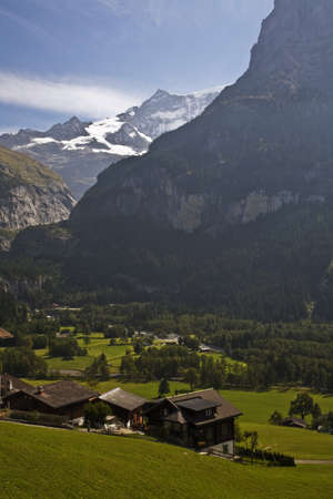swiss alps: Swiss Alps Stock Photo
