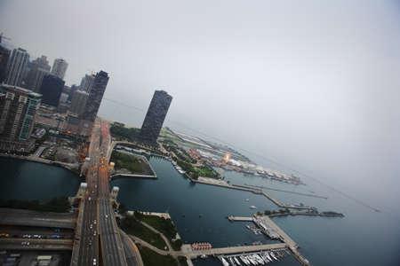arial views: Chicago, U.S.A