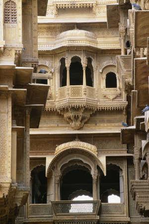 fullframes: Facade of Patwon ki Haveli, Jaisalmer, Rajasthan, India