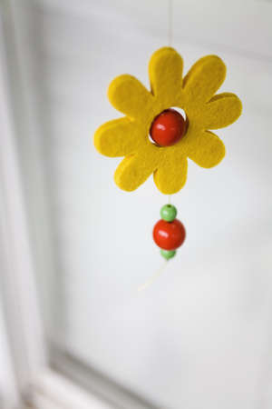 Flower mobile dangling Stock Photo