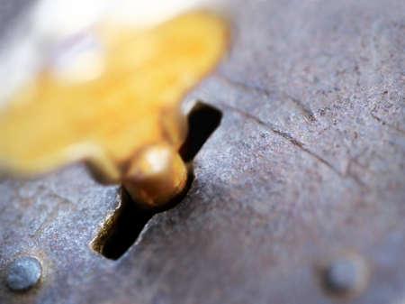 Key in a lock photo