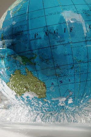 tanasiuk: Globe in melting ice