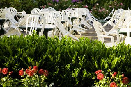 patio furniture: Mobilia del patio Archivio Fotografico