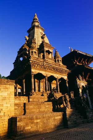 historical periods: Hindu Temple, Durbar Square, Bhaktapur, Nepal Stock Photo
