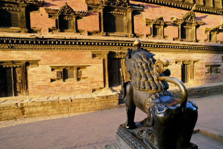 Façade of the Royal Palace, Bhaktapur, Nepal Stock Photo - 8243838