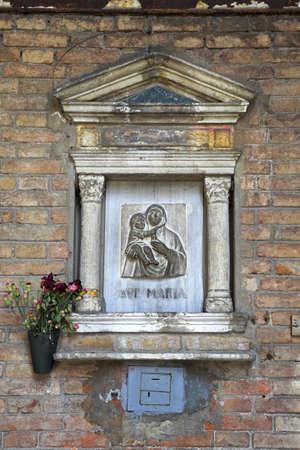 chris upton: Shrine, Venice, Italy Stock Photo