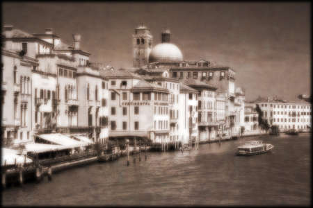 sepias: The Grand Canal from Ponte Degli Scalzi, Italy Stock Photo