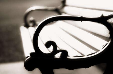 sepias: Bench Stock Photo