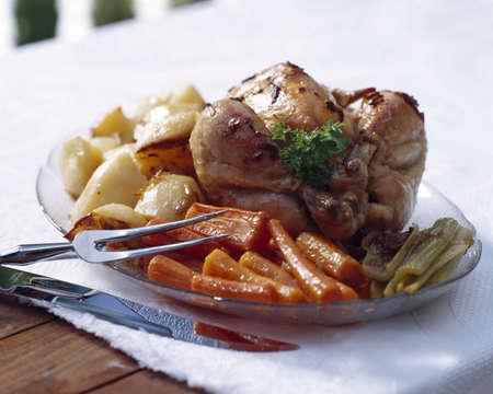 Chicken dinner Stock Photo - 8242340