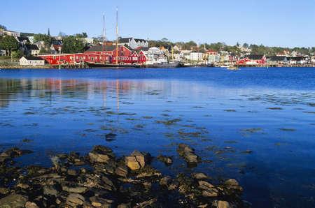historical periods: Historic Lunenburg waterfront, Lunenburg, Nova Scotia, Canada