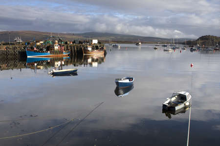 Boats in the water,Tobermory,Isle of Mull,Scotland Stock Photo - 8242025