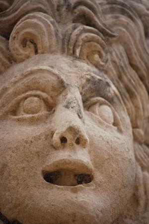 Theatrical mask,Myra (Demre),Turkey    Stock Photo - 8244059