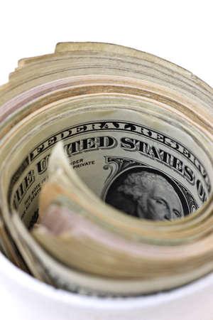 carson ganci: Money in cup   Stock Photo