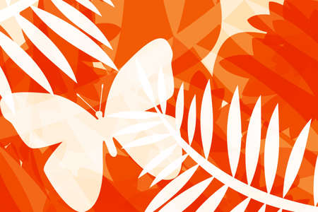 compilations: Illustration of butterflies and leaves