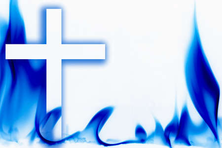 christian faith: Illustration of fire and the cross