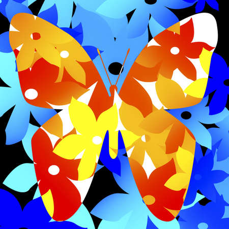 knorr: Floral pattern in shape of butterfly